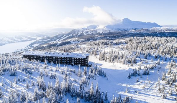 Copperhill Mountain Lodge i Åre i vinterlandskap
